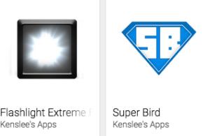 Find Kenslee's work in Google Play Store.